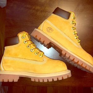 Yellow Timberland Construction Boots